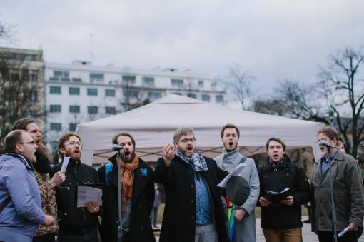 The Láska opravdivá male vocal choir is extending its ranks