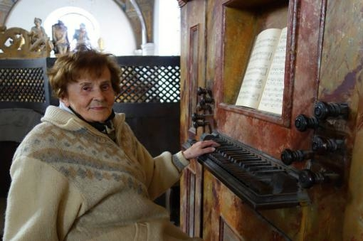 The organ of the Jesuit Church sounded to mark the jubilee of Alena Veselá