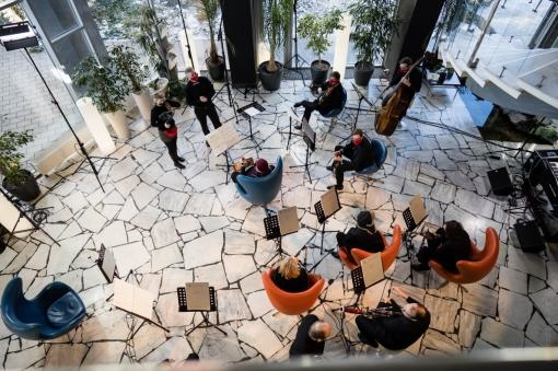 """Roaming around hotels in Brno with the """"Best Covid Orchestra"""": Part 1."""